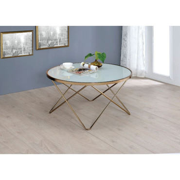 The Valora Frosted Glass Coffee Table  Set