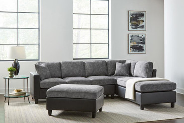 The Jali Pewter Reversible Sectional