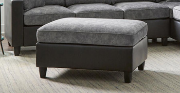 The Jali Pewter Ottoman