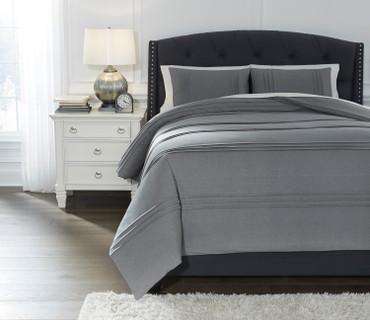 The Mittias Grey 3pc Comforter Collection
