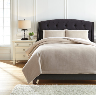 The Mayda Beige 3pc Comforter Collection