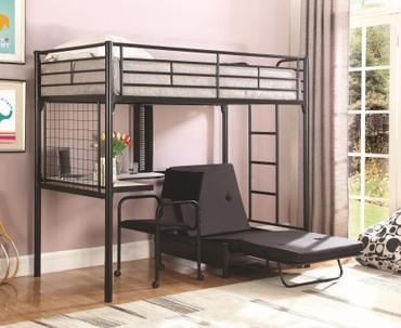 The Workstation loft bunk with futon