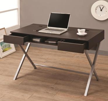 Cappuccino Criss Cross Smart Desk