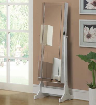 White Keepsakes Cheval Mirror