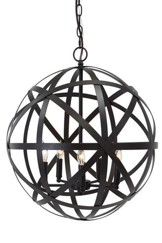 Antique Bronze Finish Metal Pendant Light