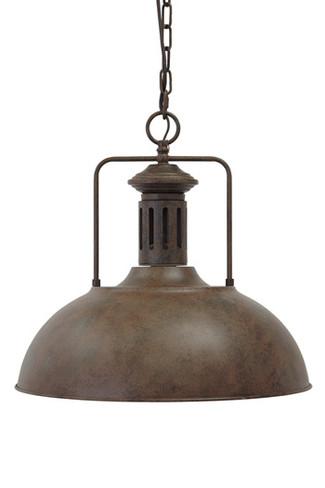 Antique Brown Finish Metal Pendant Light