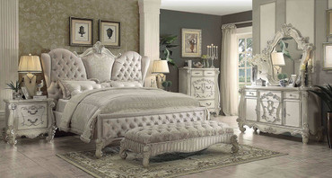 The Versailles Ivory Velvet Bedroom Collection