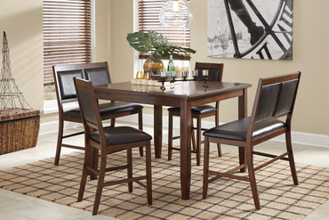 The 5pc Meredy Counter Height Dining Room Collection