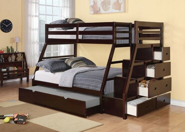 The Jason Espresso Bunk Bed