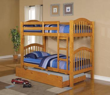 The Heartland Honey Oak Bunk Bed Collection