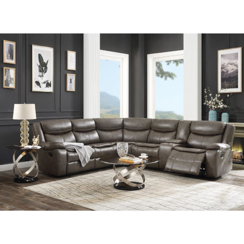 The Tavin Taupe Reclining Sectional