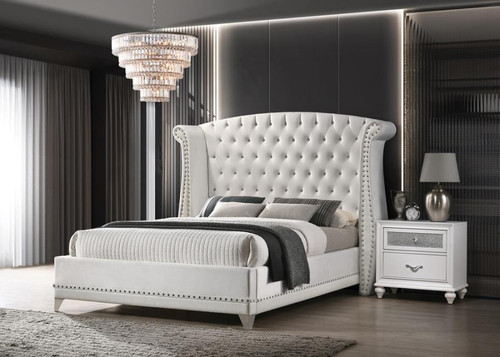 The Barzini White Collection Bed