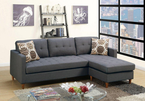The Stalie Blue Grey  Reversible Sectional