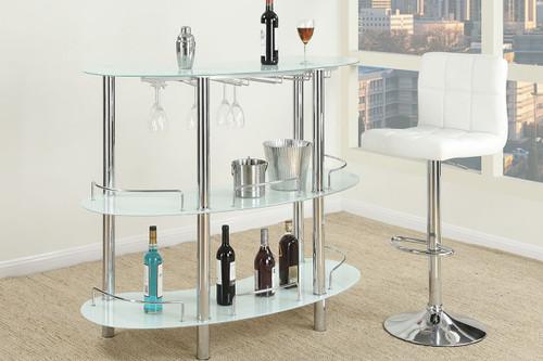 The Moderna White Bar Stand