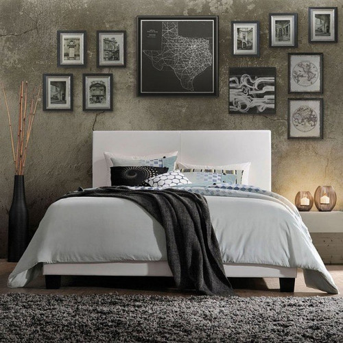 The Lien Queen White Bed