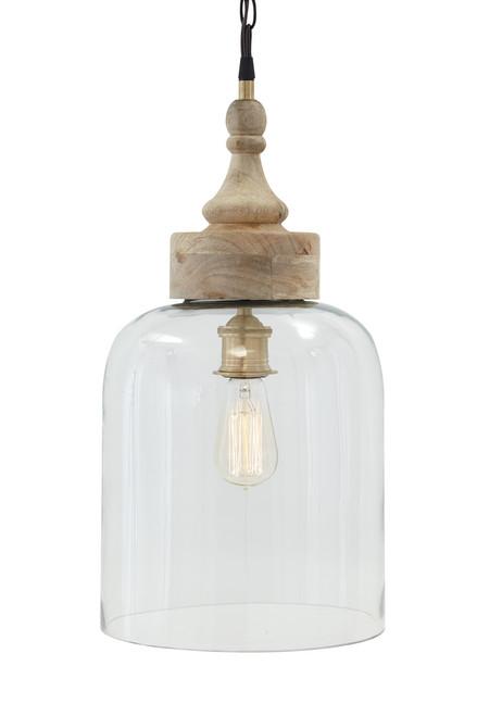 The Faiz Natural Wood Pendant Light