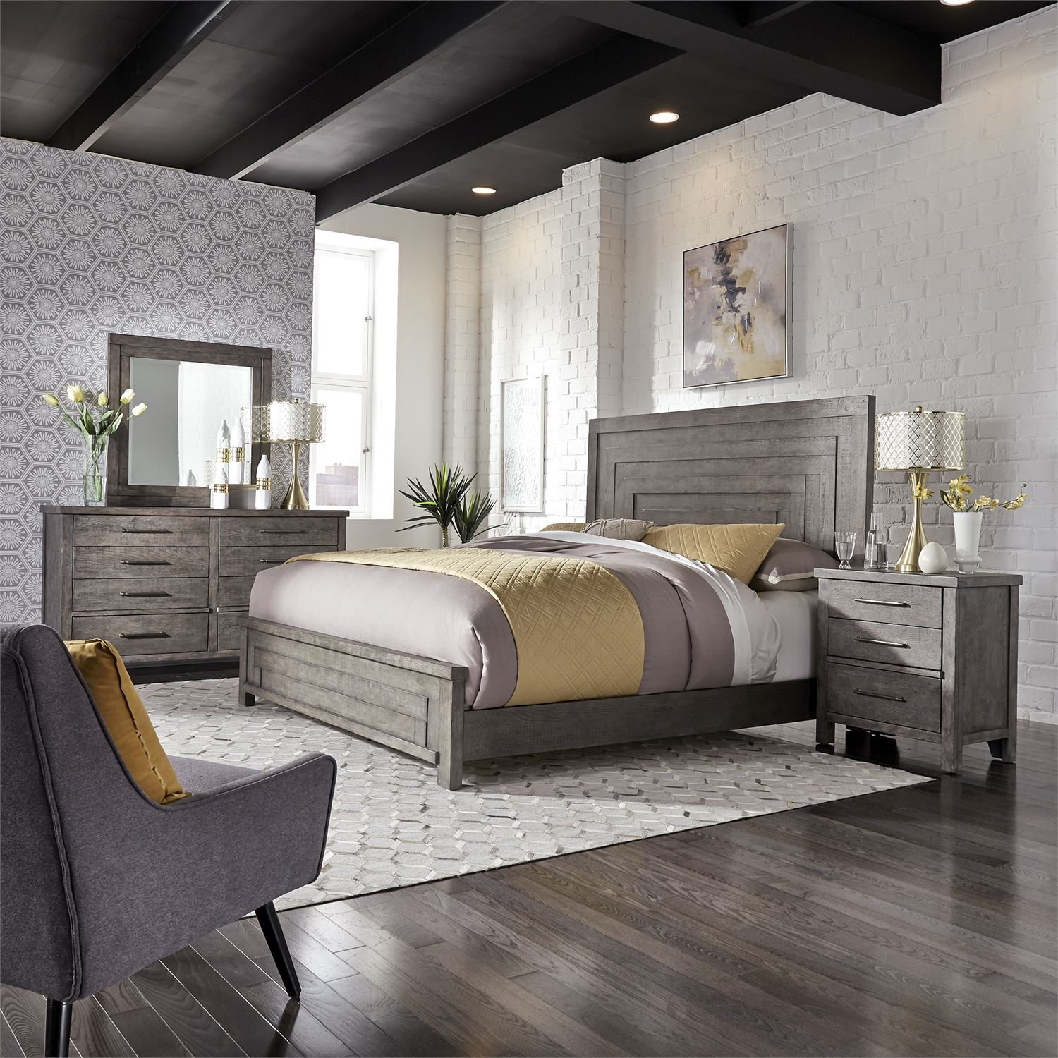 The Modern Farmhouse Bedroom Collection Miami Direct Furniture
