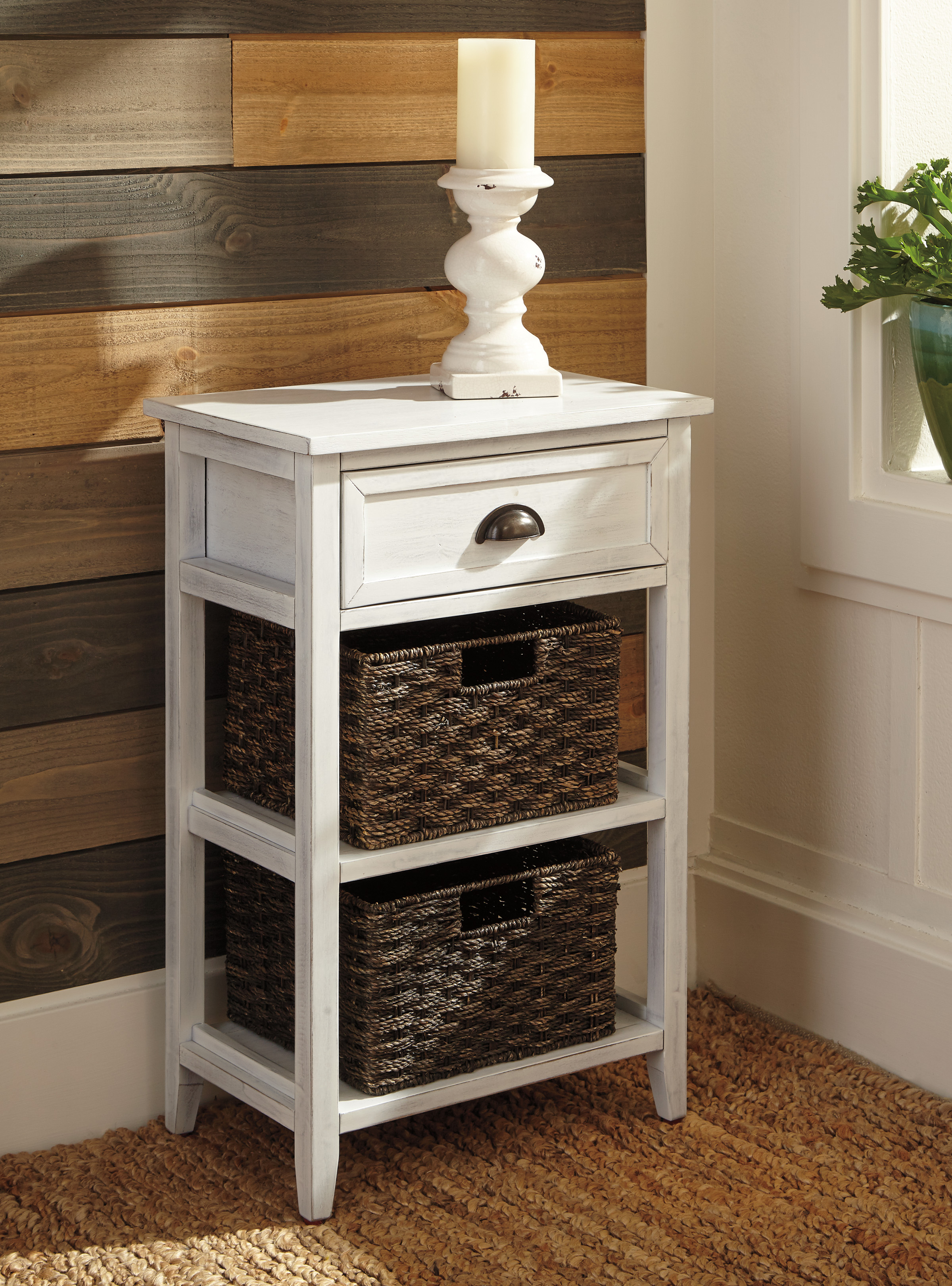 - The Oslember White Accent Table - Miami Direct Furniture