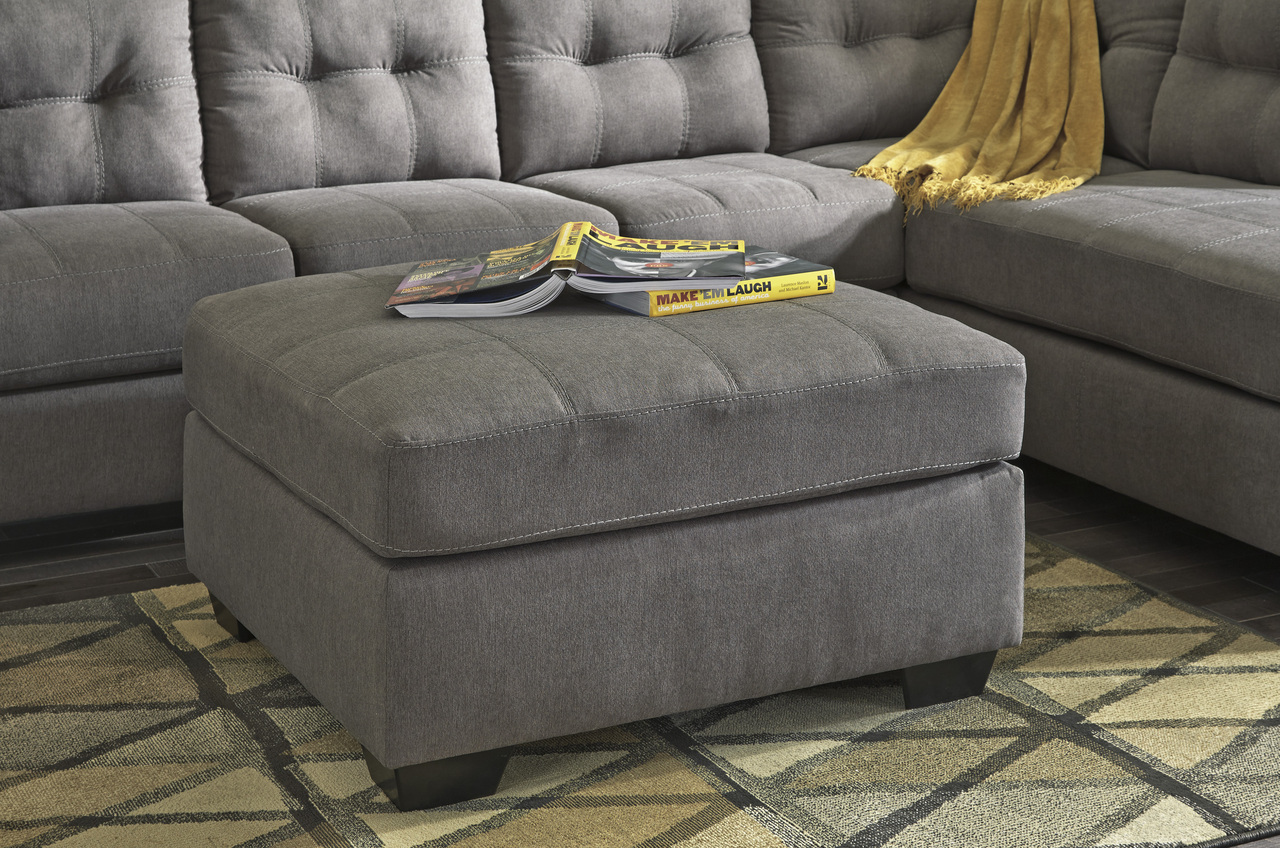 The Maier Grey Oversized Accent Ottoman