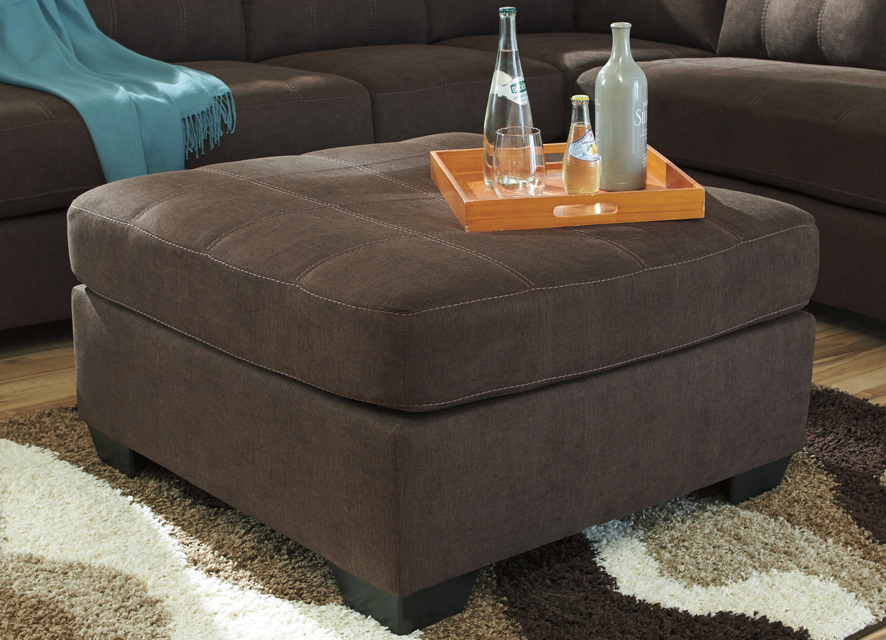 The Maier Chocolate Oversized Accent Ottoman