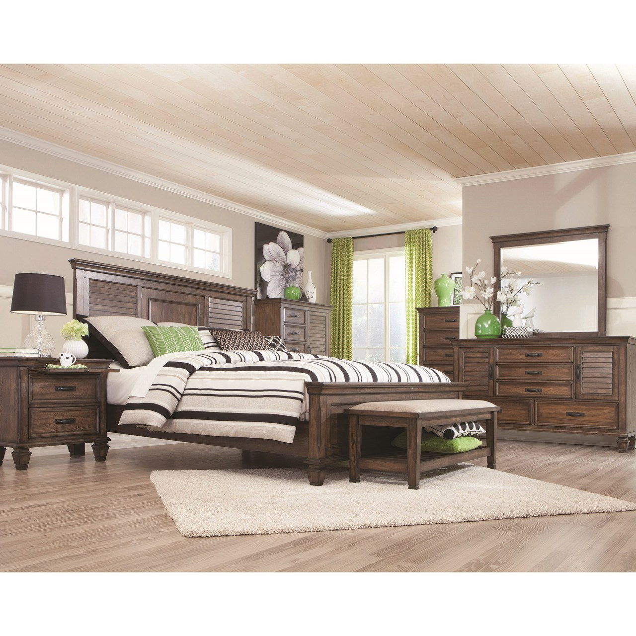 The 7pc Franco Bedroom Collection Miami Direct Furniture