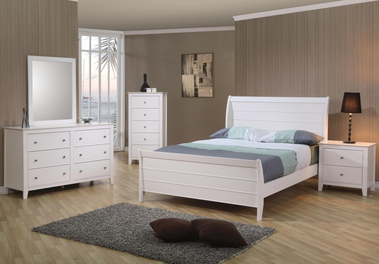 The 6pc Selena Solid Wood Bedroom Collection Miami Direct Furniture
