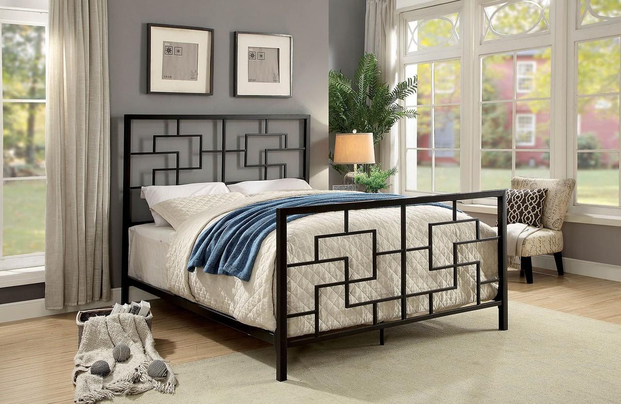The Lala Dark Bronze Metal Bed Miami Direct Furniture