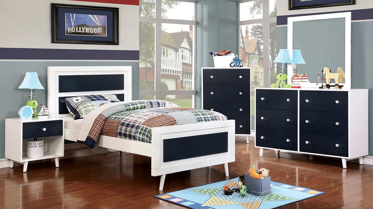 The Alivia Youth Blue Bedroom Collection Miami Direct Furniture