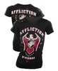 Affliction Womens Georges St. Pierre 167 Royal Baby Tee