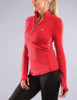 Virus Women's Stay Warm 1/2 Zip Mock Neck Functional Fit Long Sleeve