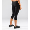 Virus Women's Power Tech Crop Pant (ECo24) Black back