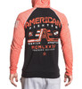 American Fighter Wyoming L/S Pullover Raglan Hoodie BLACK/ORANGE