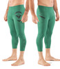 Virus AU53 RACER 3/4 LENGTH STAY COOL COMPRESSION TECH PANT - Hunter Green