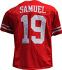 Authentic Deebo Samuel Autographed San Francisco 49ers Red Jersey Back