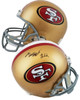 Authentic Matt Breida Autographed Full Size Replica San Francisco 49ers Helmet (Beckett Witness COA)