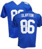 Authentic DARIUS SLAYTON Autographed Signed Custom Blue Jersey (JSA Witness COA) New York Giants Rookie WR