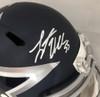 Authentic Leighton Vander Esch Autographed Dallas Cowboys AMP Full-Size Speed Helmet (Beckett Hologram)