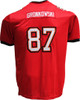 Rob Gronkowski Pro-Style Custom Stitched Red Tampa Bay Buccaneers Jersey Back