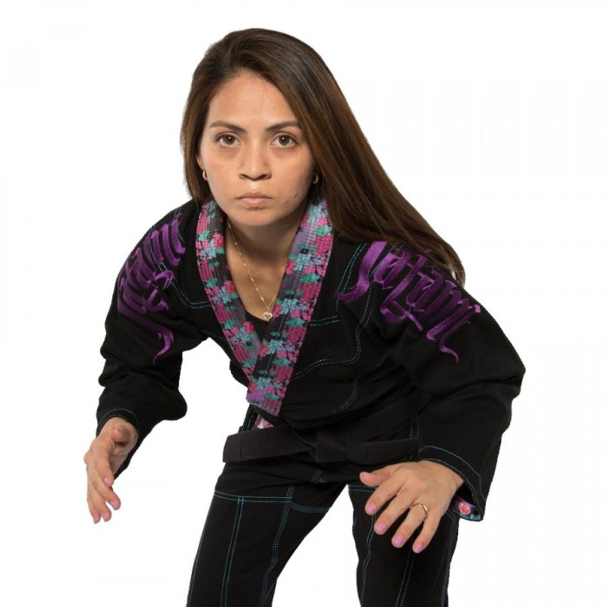 Tatami Fightwear Womens Weeping Hannya Spats Purple Ladies