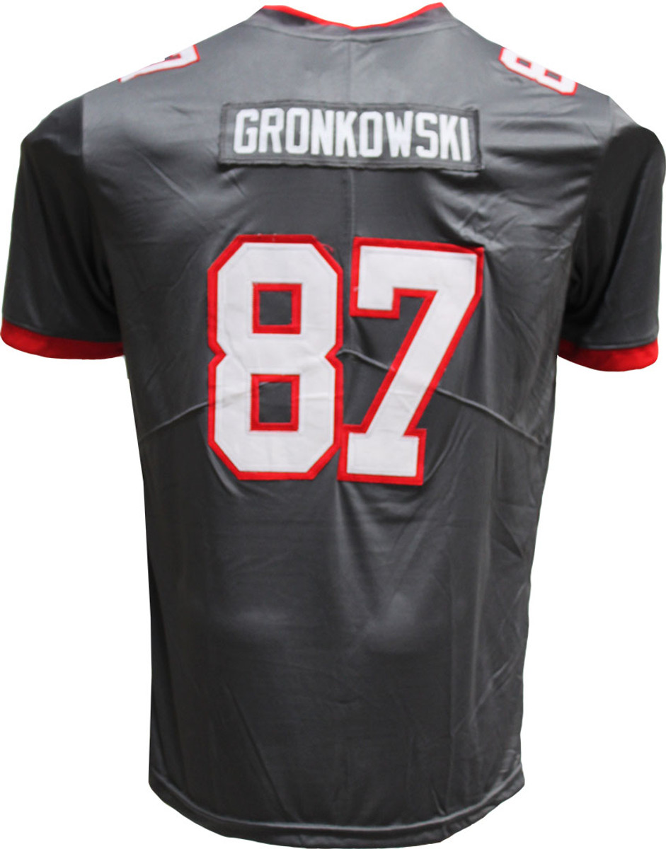 Rob Gronkowski Pro Style Custom Stitched Charcoal Tampa Bay Buccaneers Jersey