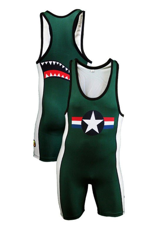 Custom Sublimated Mat Shark Singlet