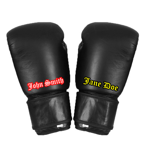 Custom Gloves with Printed Name