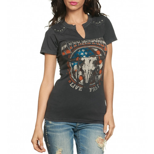 Affliction Desert Ride Western Vintage Shirt Front