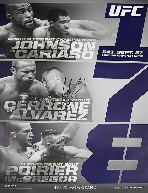 Cowboy Cerrone Autographed 178 Event Poster