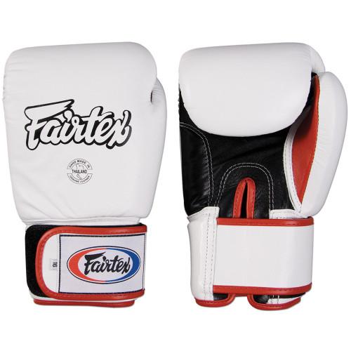 Fairtext Muay Thai Style Sparring Gloves WHITE
