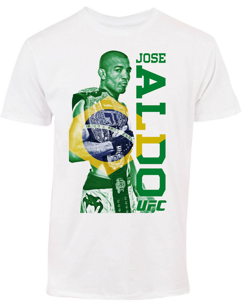 Jose Aldo UFC 189 Brazil Fighter Flag T-Shirt