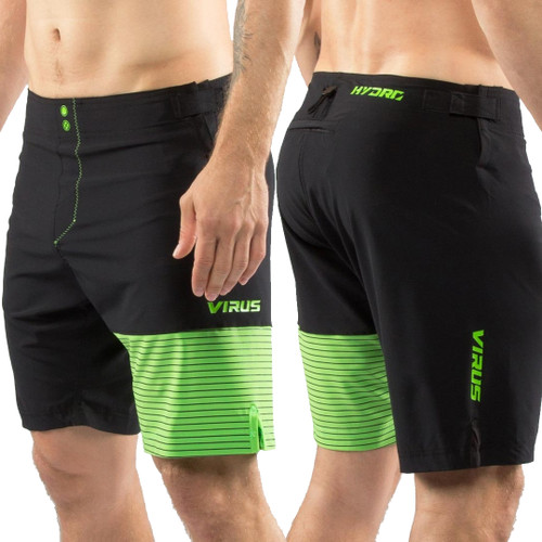 Virus Men's Hydro Performance Shorts (ST4) Black & Green