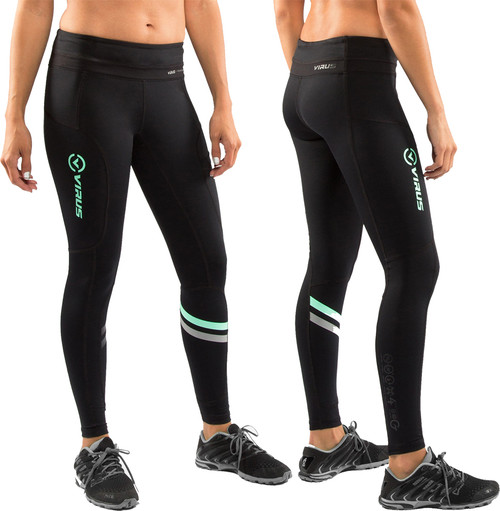 Virus Women's LUNAR Active Tech Pant (ECo19) Black/Mint