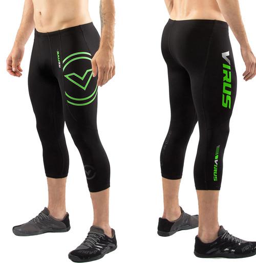 Virus Men's Stay Cool 3/4 Length Compression Boot Cut (RX5-V3) - Black/Green