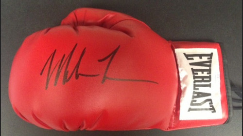 Mike Tyson Autographed Red Everlast Glove JSA Certified